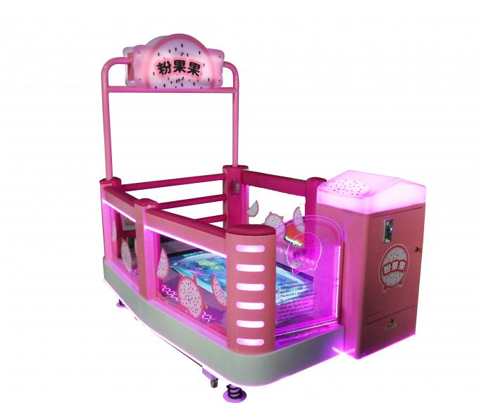 Coin Operated Kids Arcade Machine / Step On Touch Screen Amusement Game Machine