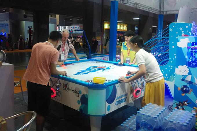 Indoor Sports 4 Person Arcade Air Hockey Table Equipment 110/ 220V