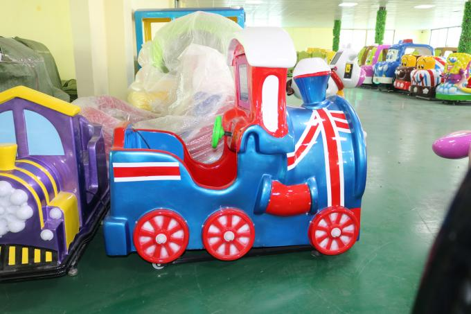 1 Player Kids Coin Operated Rides / Little Train Kiddie Rides For Supermarket