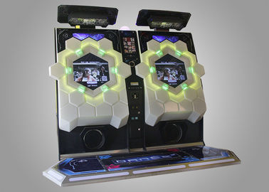 China Colorful Stage Realistic Sound Effect Rhythm Dance Game Machine Simulator Indoor 47 inch Revolution supplier