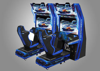 China Car Race Force Feedback Steering Racing Simulator Game Machine With 14 Cars Unlocked supplier