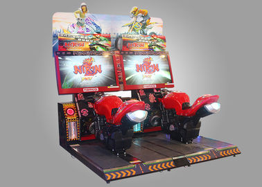 China NIRIN Namco Developed Motorcycle Simulator Machine With Stereo Loudspeaker supplier