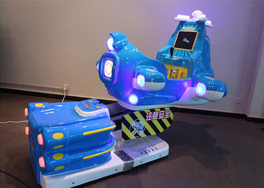 China Aircraft Carton Airplane Coin Operated Kiddie Rides With LCD Screen supplier