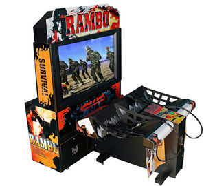 Rambo Electronic Coin Operated Indoor Arcade Video Simulator Gun Shoot Game Machine with 2 players