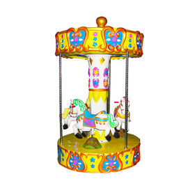 China Kids Amusement Coin Operated Kiddie Ride Merry Go Round And Carousel factory