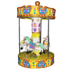 China 3 Seats Carousel Coin Operated Kiddie Ride / Carousel Horse Ride On Toy factory