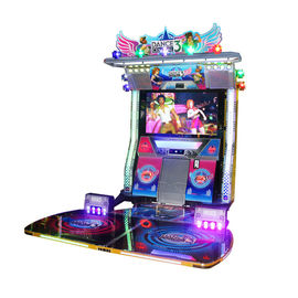 Amusement Arcade Games Machines 300W Adult Dance And Music Machine