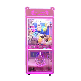 Cute Bear Claw Machine Arcade / Claw Grabber Machine For Indoor Locations