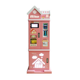 Pink House Arcade Games Machines Secure Coin Changer / Bill To Coin Exchange Machine