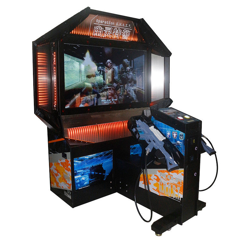 "300W Commercial Shooting Arcade Machine / Arcade Ticket Machine 55"" HD Screen"