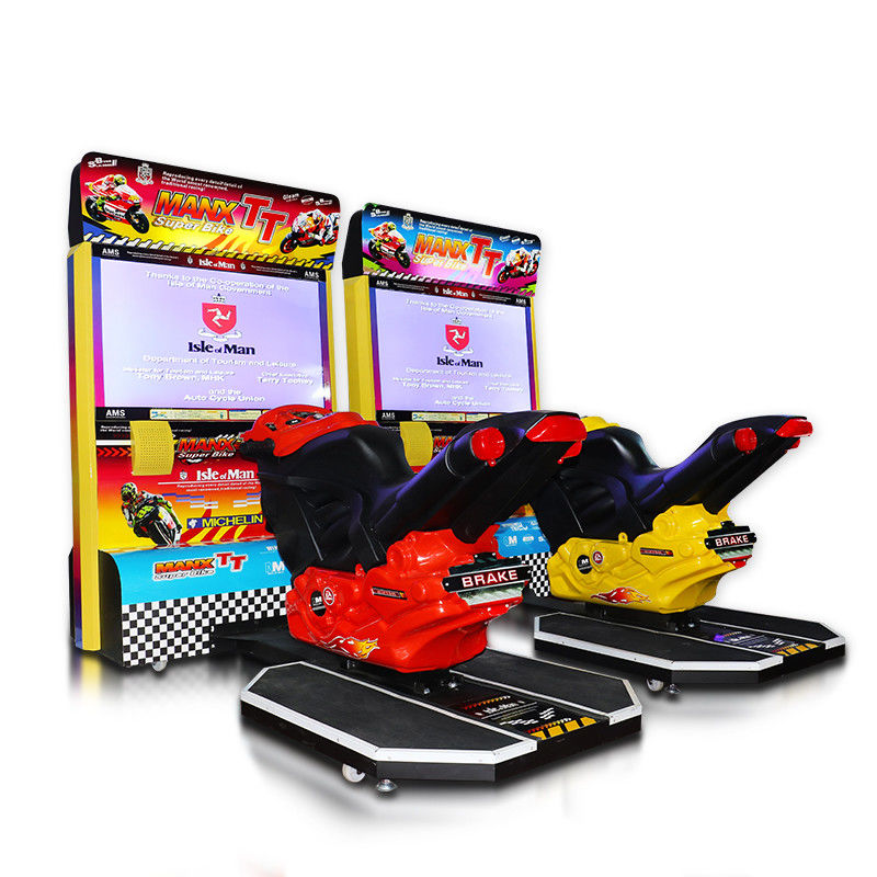 Stable Performance Bike Racing Arcade Machine Coin Operated 250W