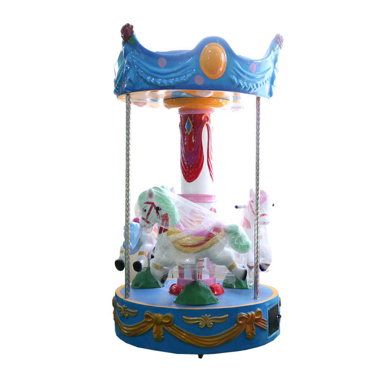 Indoor 3 Seats Carousel For Kids Cute Design Mini Merry Go Round