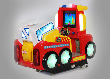 Fire Fighting Car Tow Player Coin Operated Amusement Rides Educational Function