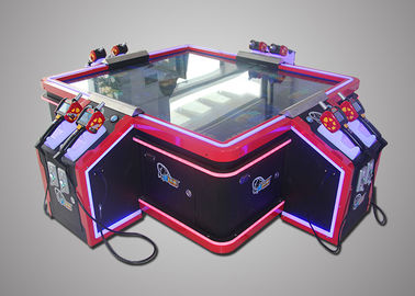 Customized 4 Players Shooting Fish Game Machine Attractive Design 220V